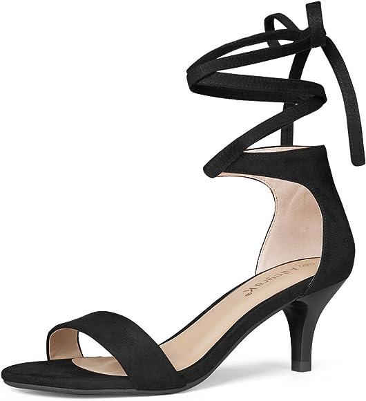 Allegra K Women's Lace up Black Sandals