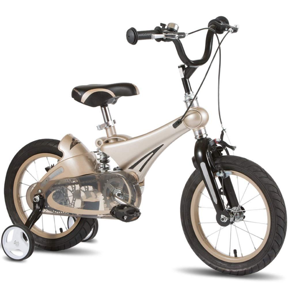 入園入学祝い Axdwfd B07PSFY22R 子ども用自転車 Axdwfd キッズバイク、子供用自転車12/14/16インチトレーニングホイール付男の子と女の子のためのサイクリング子供に最適な年齢28歳 16in 16in ゴールド B07PSFY22R, ジャパンホビーツール:b54f78e6 --- senas.4x4.lt