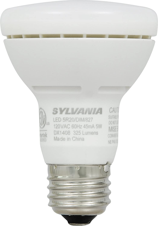 sylvania 5watt led br20 reflector lamp replacing 30watt amazoncom