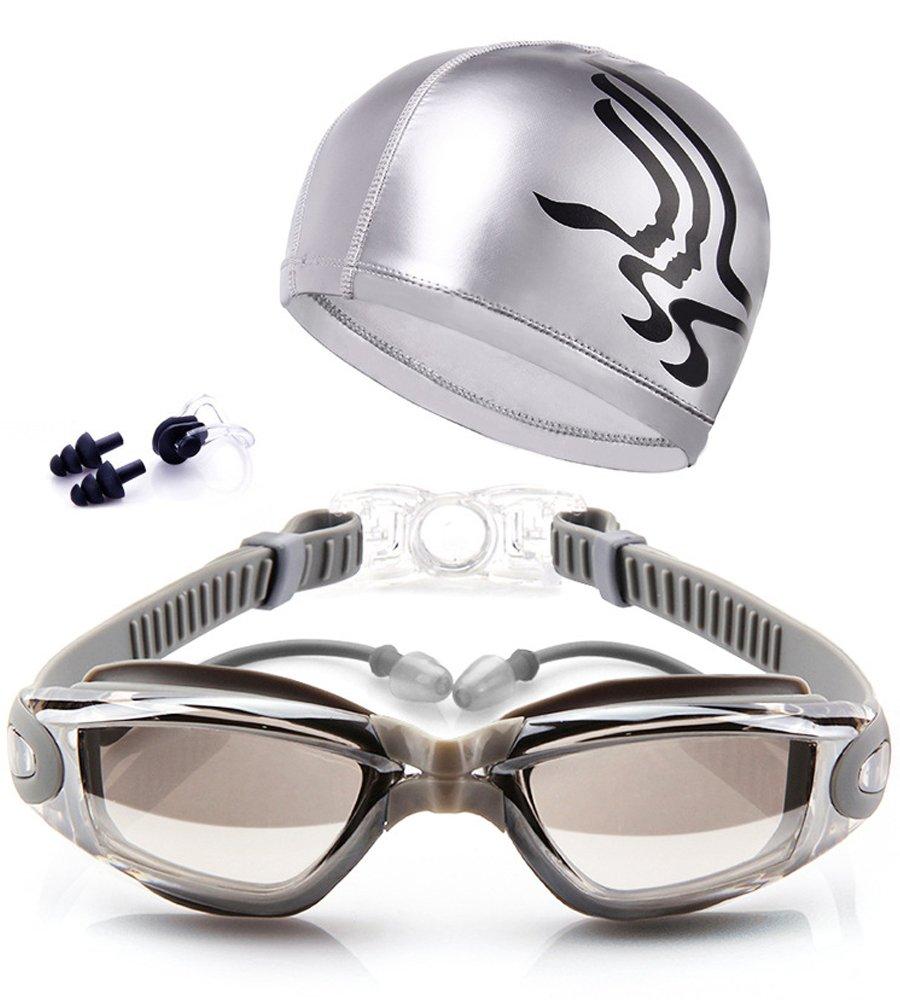 Gafas de natación Espejo Anti Niebla protección UV Gafas para Nadar Silicona para Adulto Hombres Mujeres: Amazon.es: Deportes y aire libre