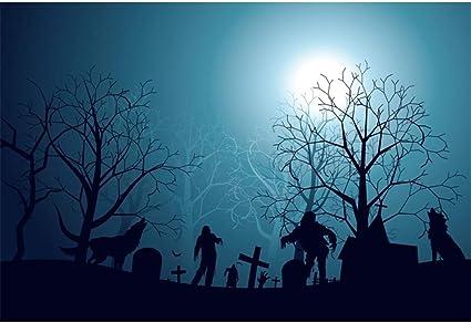 Yongfoto 1 5x1m Halloween Hintergrund Lebender Toter Kamera