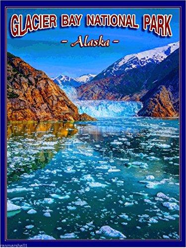 (MAGNET Glacier Bay National Park Alaska United States Travel Advertisement Art Magnet)