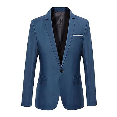 VOBAGA Herren nehmen passender beiläufiger ein Knopf stilvoller Anzug Jacken  Mantel Blazer ab Geschäft Anzugjacken: Amazon.de: Bekleidung