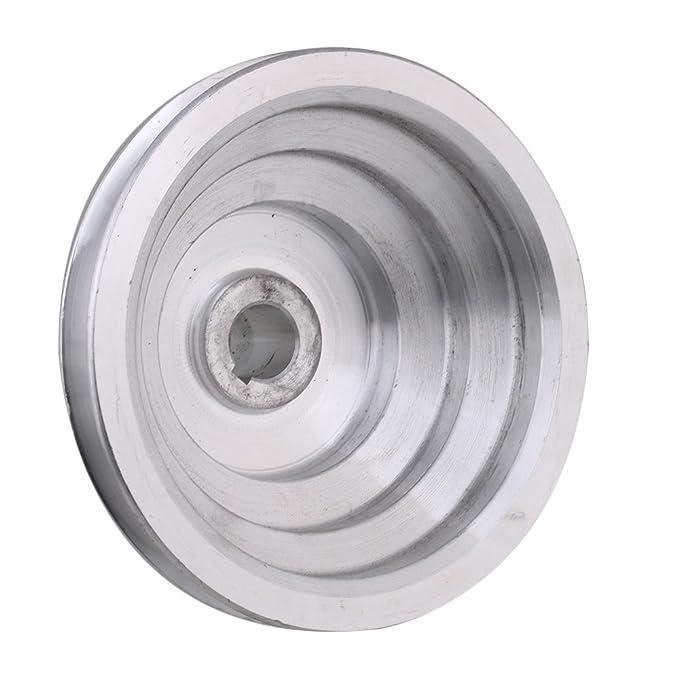 54 mm a 150 mm Diámetro exterior 20 mm de diámetro interior 12.7 mm Aluminio 5 pasos modular de cinturón de poleas para tipo A Correa dentada de correa en ...
