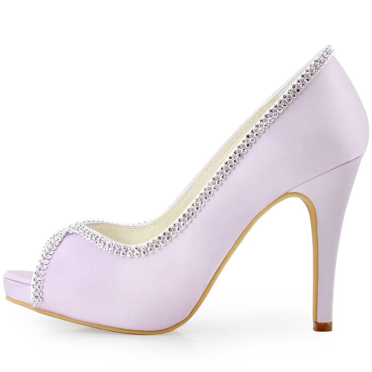 De Ep11083 Ouvert Chaussures Escarpins Chaine Bal Bout Plateforme Elegantpark Mariee Satin Aiguille Ip Femme Diamant kPiuZOXT