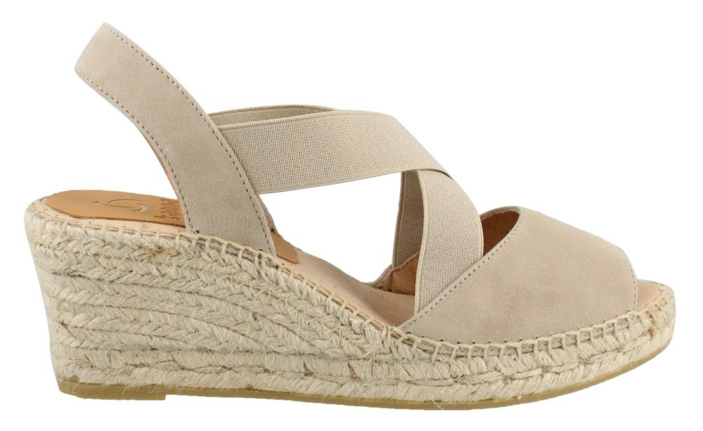 Kanna Women's, KB8701 Wedge Sandals B078HDD5PL 41 M US|Taupe