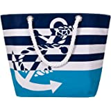 Sornean Oversized Waterproof Beach Tote Bag Market Shopping Bag Grocery Bag With Cotton Rope Handle
