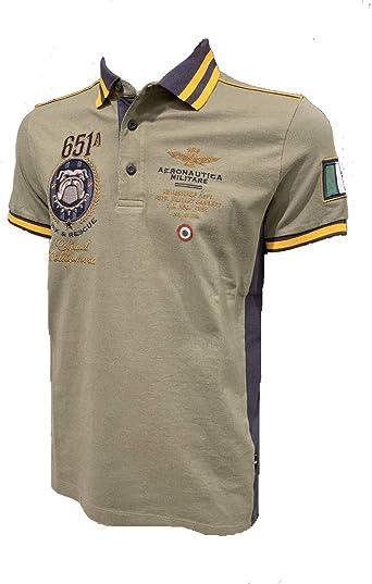 Aeronáutica Militar Polo PO1449P Verde Militar Piquet Hombre Camisa: Amazon.es: Ropa y accesorios