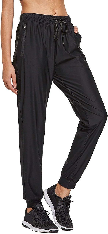 BALEAF Womens Track Pants Athletic Sports Sweat Pants Open Leg Jogger Sweatpants Zippered Pockets Lounge