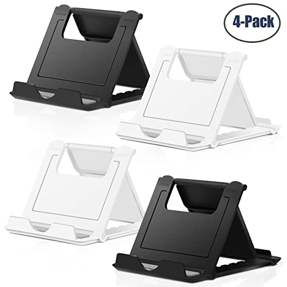 99d12523fa Cell Phone Stand,4 Pack Tablet Stand,Universal Foldable Multi-angle Pocket  Desktop