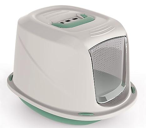 10586 Inodoro WC para gatos mod. GALAXY con puerta frontal 45x36x31,5 cm (