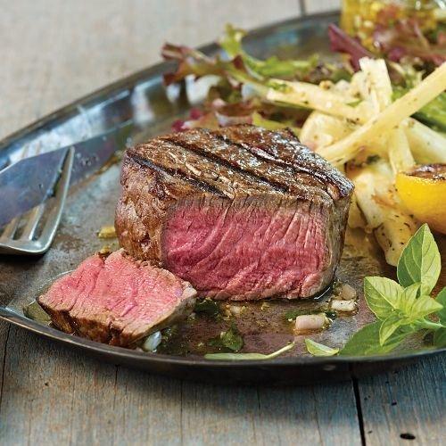 Bison Meat (Omaha Steaks 4 (6 oz.) Bison Filet Mignon)