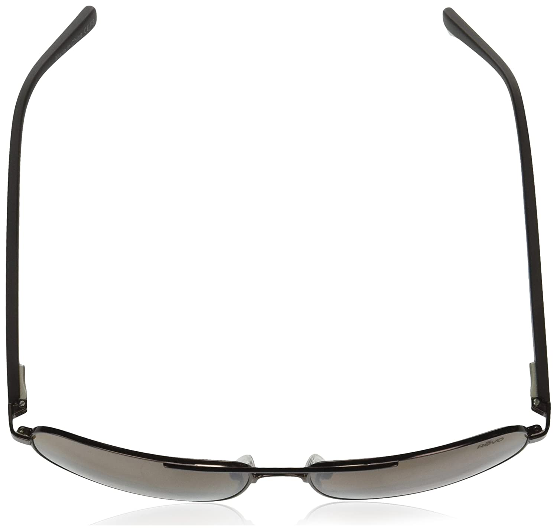 Matte Brown Frame Terra Lens Revo Sunglasses Revo Unisex RE 5022 Peak Navigator Polarized UV Protection Sunglasses Aviator