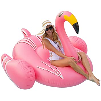 Flotador inflable de la piscina gigante del flamenco para el anillo de la natación del aire