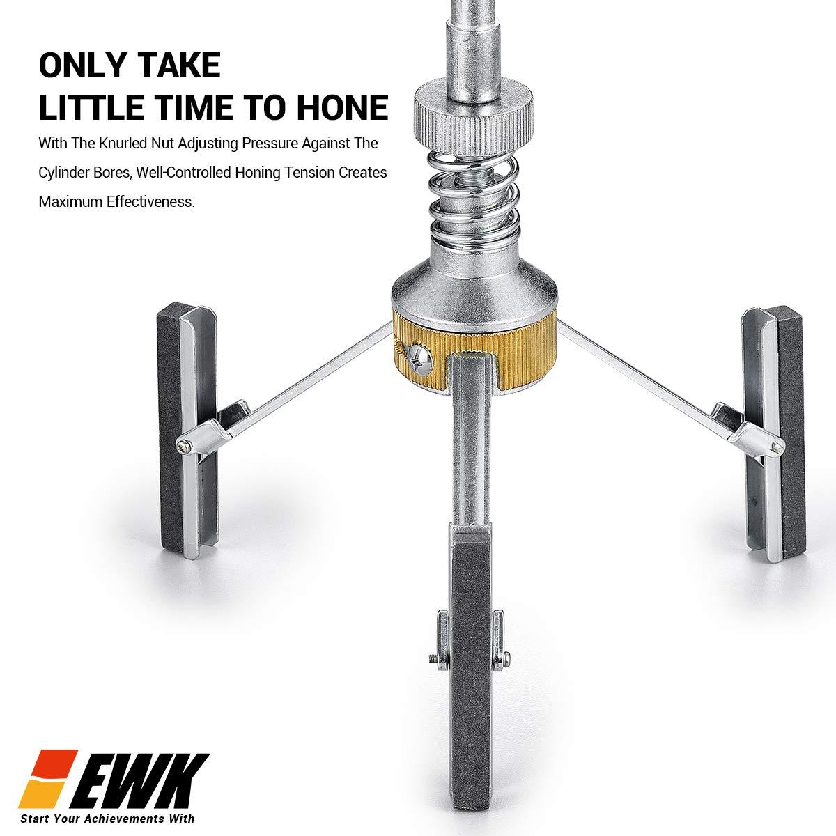EWK 2-7 - Cilindro para motor (3 hojas, 3 piedras largas, grano 220): Amazon.es: Coche y moto