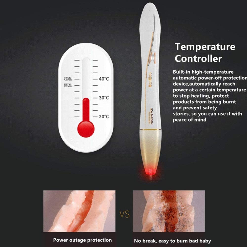 37.5℃ USB AUTO Heating Rod Warmer Inflatable Heating Stick Heater Winter for Adult Toys,Waterproof,USB Heating,LED Reminder