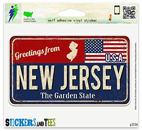 - Greetings from New Jersey Vinyl Car Bumper Window Sticker 3
