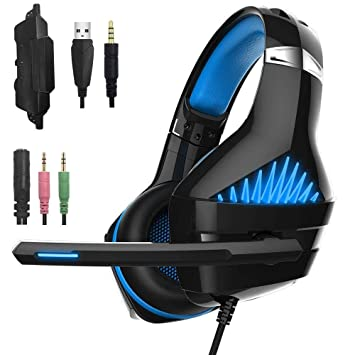 Beexcellent GM-5 Stereo Gaming Auriculares con micrófono para Mac Nintendo Switch PS4, PC