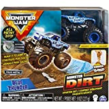 Monster Jam Blue Thunder Monster Dirt Starter Set, Featuring 8 Ounces of Monster Dirt & Truck