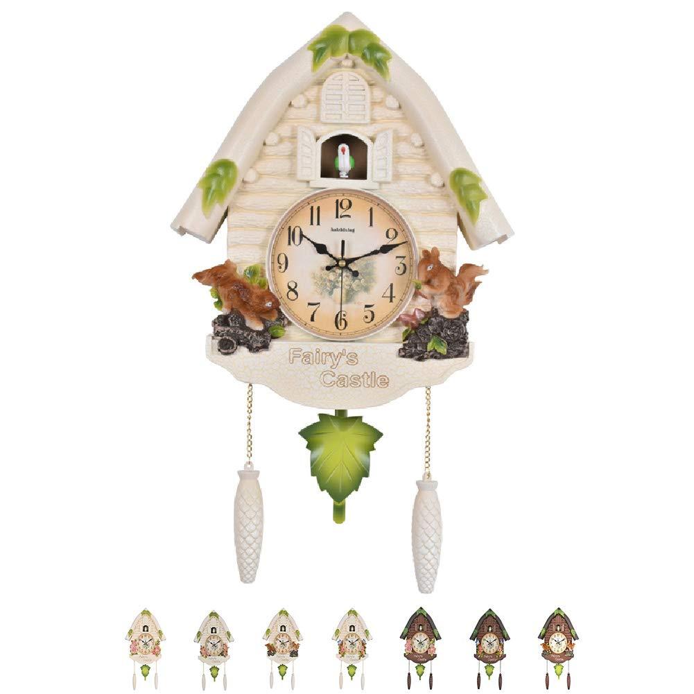 NANANA Cuckoo Clock Black Forest Antique, Clock Quartz Pendulum Wall Clock Home Decor,60X36cm,#3 by NANANA