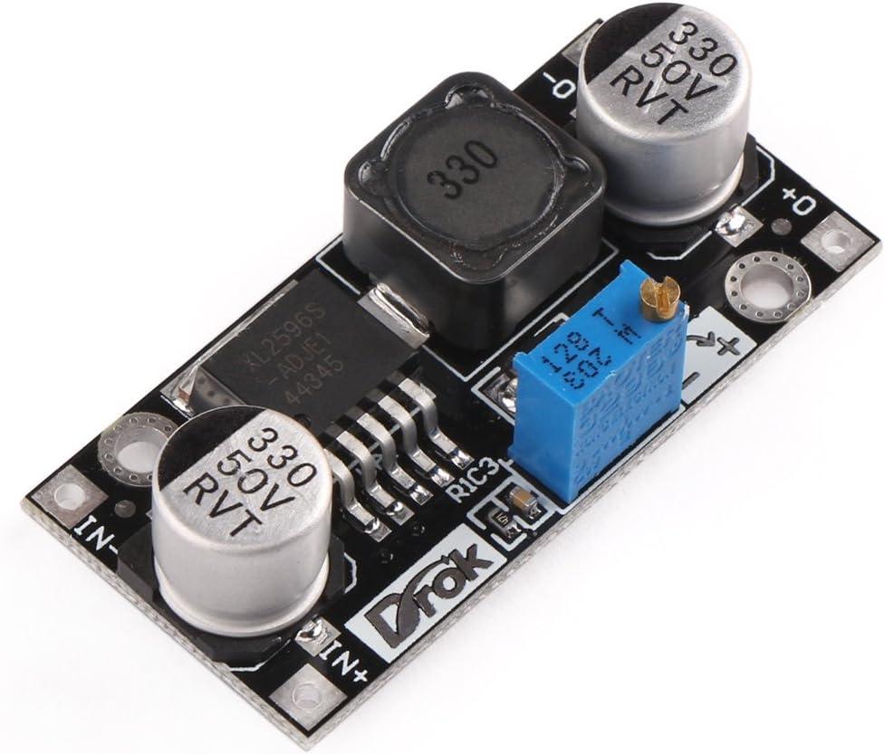 DCDC Converter, DROK Step Down Voltage Regulator Module DC 4.5-40V 36V 24V to 1.25-37V 12V 9V 5V 3V Variable Buck Converter Adjustable Electronic Power Supply Volt Reducer Transformer Stabilizer Board