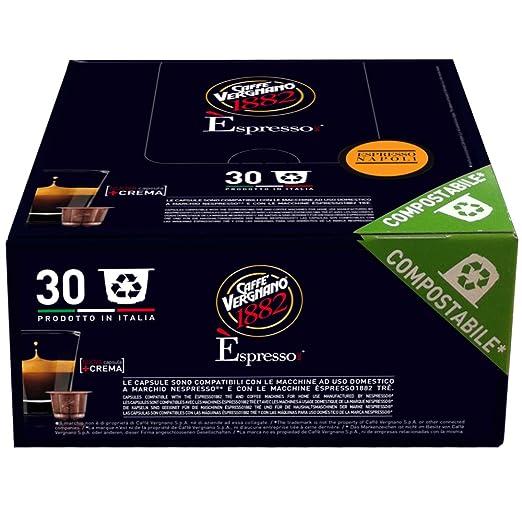 2 opinioni per Caffè Vergnano 1882 Èspresso1882 Napoli- 30 Capsule- Compatibili Nespresso