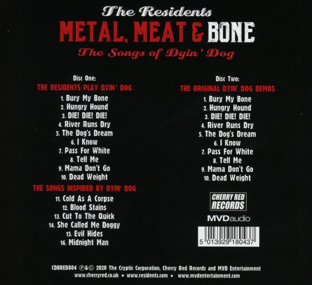 Metal, Meat & Bone ~ The Songs Of Dyin' Dog (Hardback Book Edition) (2CD):  Amazon.co.uk: Music