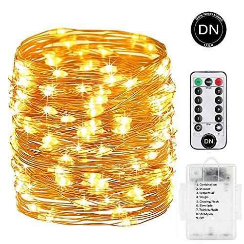 Coat Rack Cherry Bedroom - Daily-Necessities Battery Operated String Lights 33ft 100 LED Waterproof Dimmable Copper Wire with Remote Control,Suitable for Outdoor, Bedroom, Parties, Garden,Wedding (Warm White) (0, White Warm)
