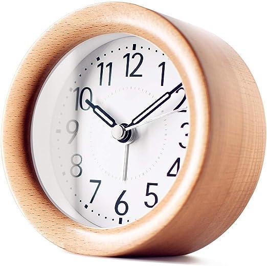TXL Ronda de madera despertador digital portátil Mini reloj de ...