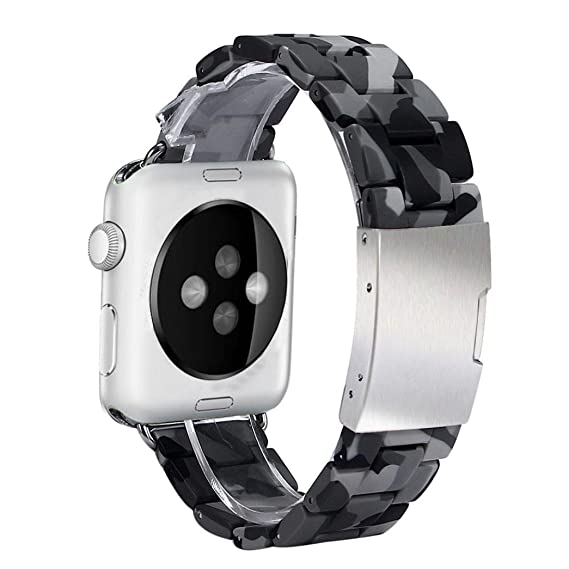 38 mm Apple Watch Banda, Perman Smart reloj de camuflaje banda Reemplazo Pulsera Correa Cómodo Correa de reloj para Apple reloj: Amazon.es: Relojes