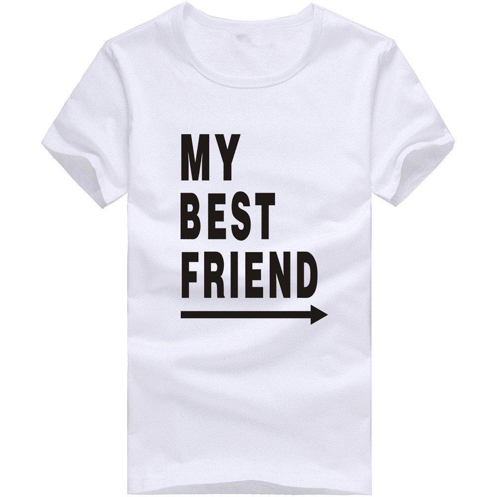 MISYAA Best Friend T Shirts for Men Letters Muscle Tee Shirt Short Sleeve Sweatshirt Sport Tank Top Pals Gift Mens Tops