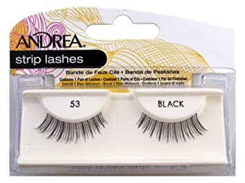 4be11904e1b Amazon.com : Andrea Mod Lashes Style 53 Black (Case of 6) : Fake Eyelashes  And Adhesives : Beauty