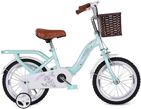 LJJL Bicicleta para Niños Bicicleta para Niños Niños De 2-5-8 Años Bicicleta con Pedal Trasero Y Cesta De Bambú 12/14/16/18 / 20inch Bicicletas Infantiles: Amazon.es: Deportes y aire libre