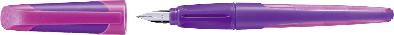 Penna stilografica punta mancini L Lilla//Magenta con 2 ricariche inchiostro Blu STABILO EASYbuddy