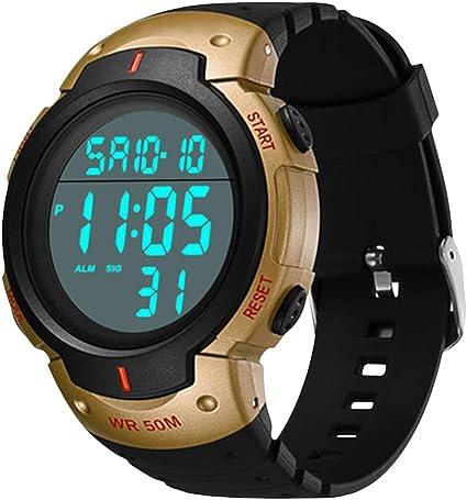Reloj deportivo digital para hombre, resistente al agua, electrónico, estilo militar y moderno, analógico, grande y duradero