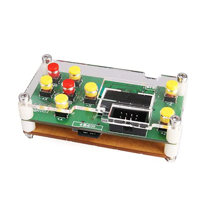 Offline Controller, CNC Router Offline Control Module Offline Working Remote Hand GRBL Controller LCD Screen for CNC Laser Engraving Milling Machine Wood ...