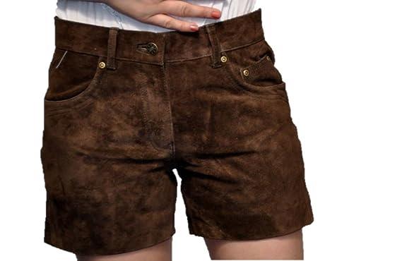 a19ccea40de3e3 Damen Lederhose Kurz - Kurz Trachtenlederhose für Frauen- 5 Pocket -Echt  Wild Leder-Kurze Trachtenlederhose-Ledershorts -Damenshorts Leder Hose  Hotpants ...