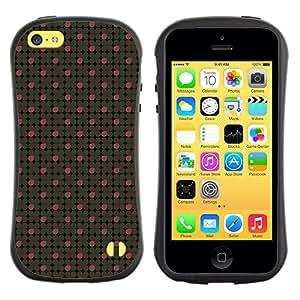 DesignCase Premium TPU / ABS Hybrid Back Case Cover Apple iPhone 5C ( clover petals )