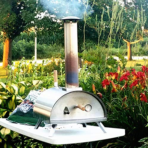 Wood Pellet Pizza Oven wppokit WPPO1, Portable, Stainless - Wood Small Oven