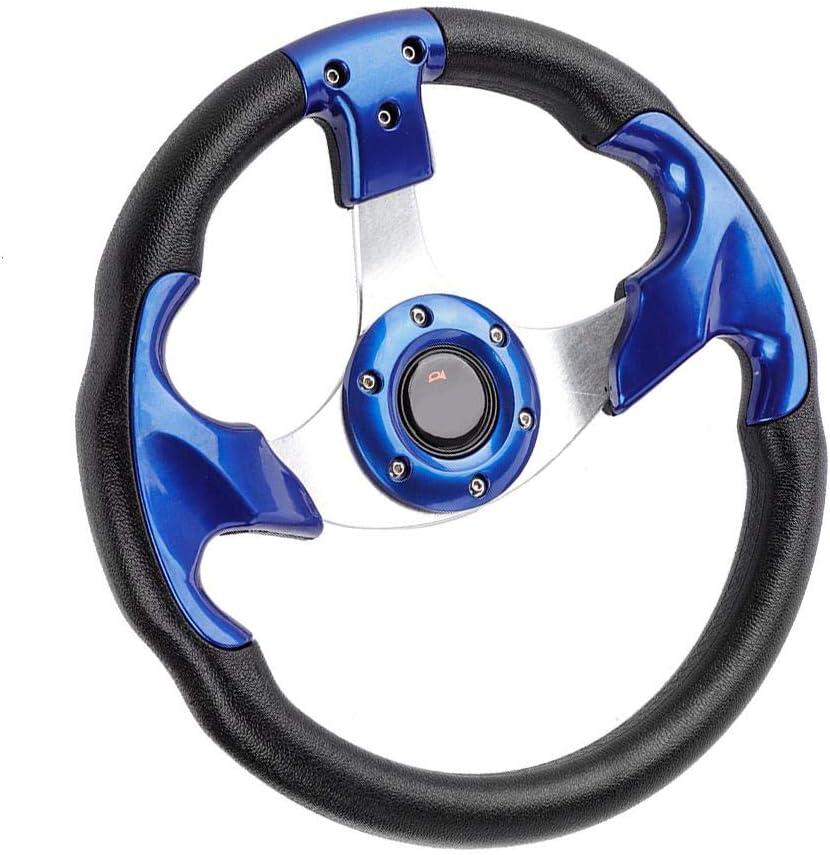 13in 320mm Universal PU Leder PVC Auto Sport Racing Drift Lenkrad Blau EBTOOLS Racing Lenkrad