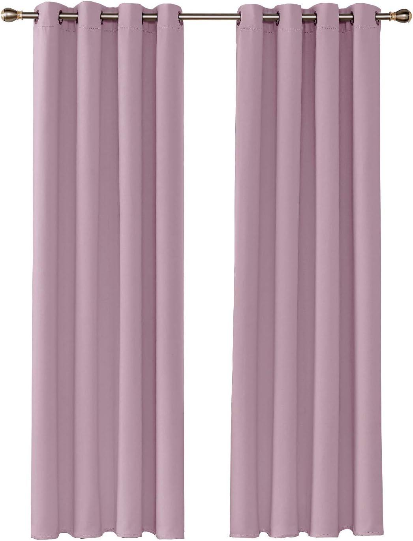 Rideau Thermique Isolant Anti Froid 2 Pi/èces Rideaux Occultants Rideau Fen/être Salon 117x138cm by Umi