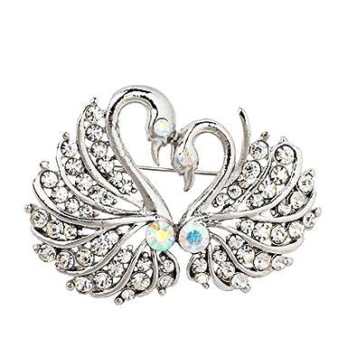 Nice Stylish Elegant Swan Brooches For Women Vintage Clothing Decoration Jewellery  Rhinestone Brooch Pin