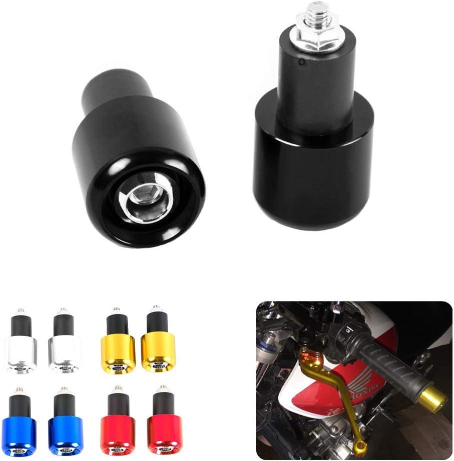 Haute qualit/é 7//20,3/cm 22/mm CNC 7//20,3/cm 22/mm CNC Moto Guidon Grip Extr/émit/és Motocross anti vibration Slider Plug pour guidon de 22/mm avec 18/mm Trou Int/érieur