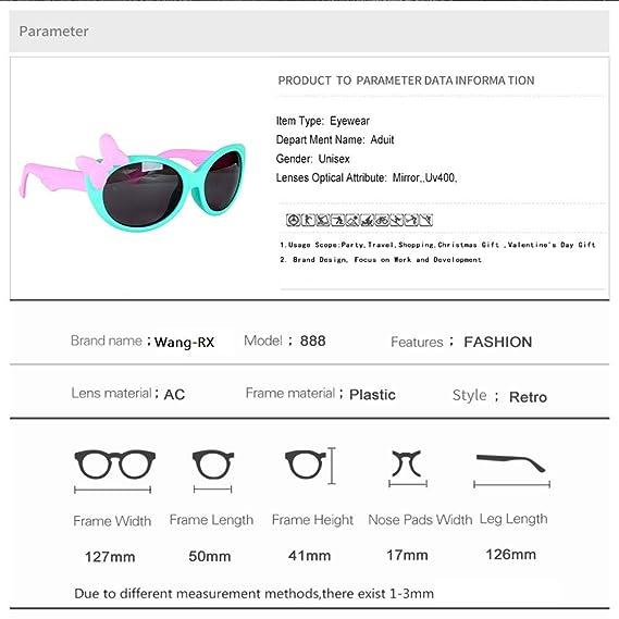 Wang-RX Tr90 Flexible para niños Gafas de sol Polarizadas ...