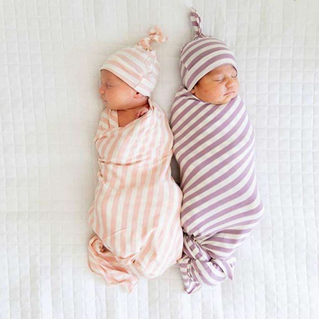 Saco de Dormir de Algod/ón Bebe Reci/én Nacidos Verano Ajustable Swaddle Wrap Manta Unisex