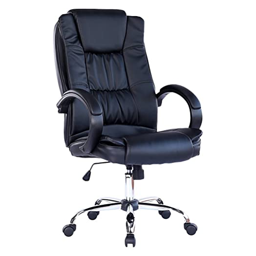 SANTANA BLACK HIGH BACK EXECUTIVE OFFICE CHAIR LEATHER SWIVEL RECLINE ROCKER COMPUTER DESK FURNITURE  sc 1 st  Amazon UK : reclining office chair uk - islam-shia.org