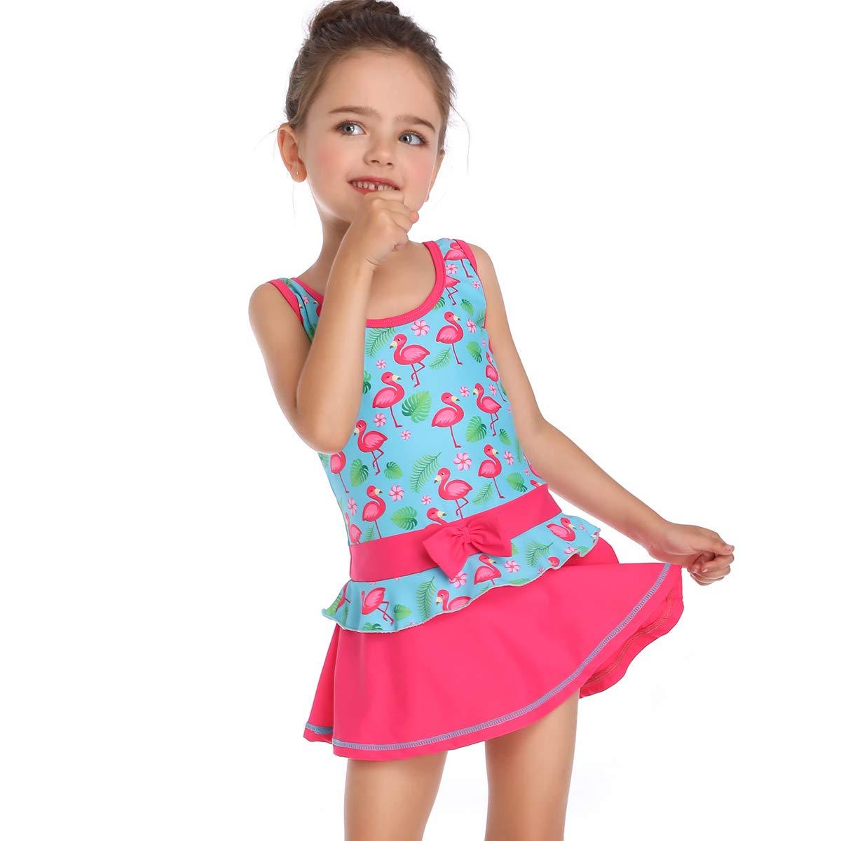 Amazon.com: Leoparts - Bañador de una pieza para niñas ...