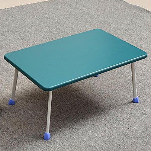 KSUNGB Laptop desk Bed Writing desk Small table Multifunction Foldable Dorm room Lazy People Desk Horseshoe-shaped Table legs, blue by KSUNGB