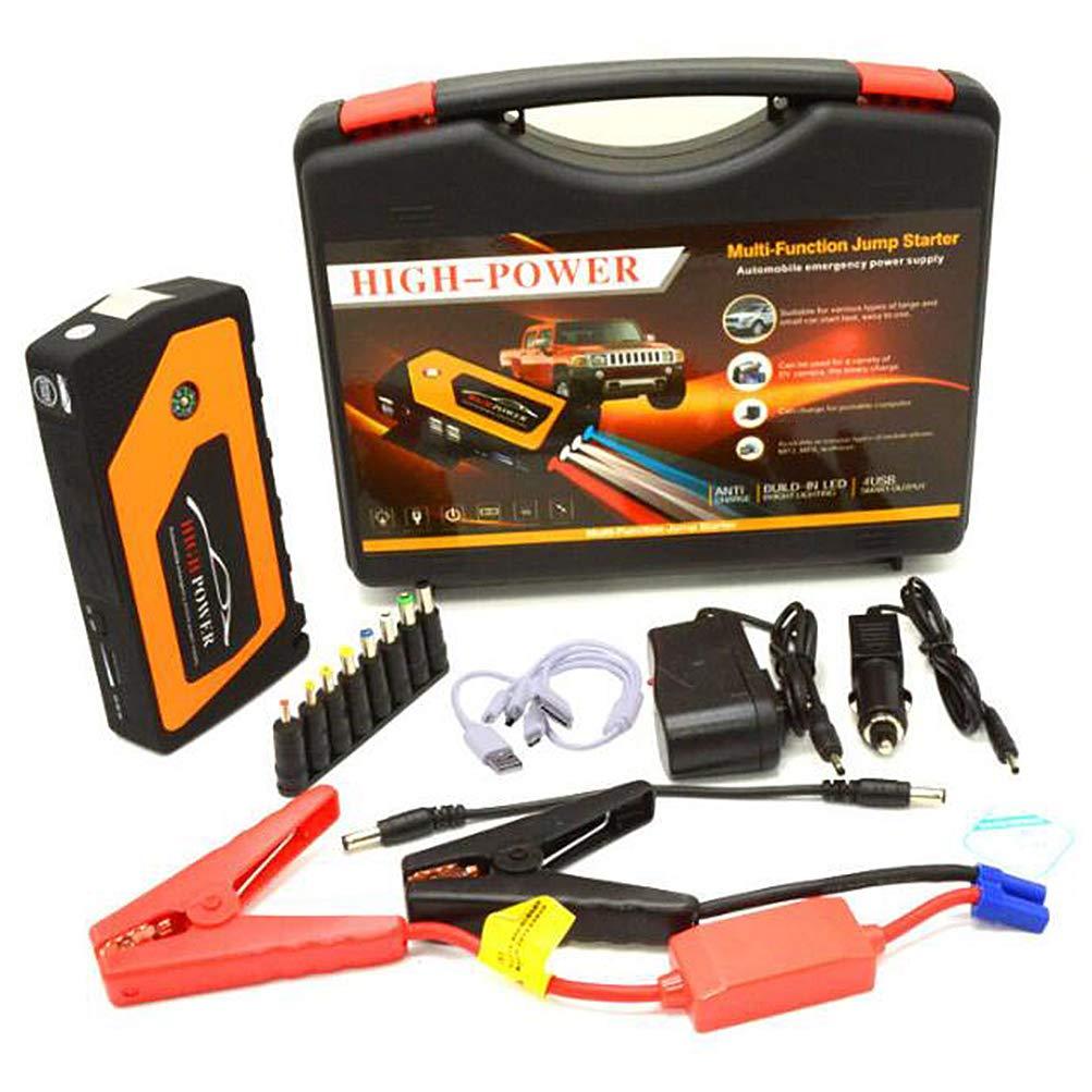Chargeur de batterie de voiture et chargeur portable 18000mAh pour démarreur de voiture UFFD 600A (essence jusqu'à 6,0 L ou diesel 4.0L) 12V, avec éclairage de secours à LED, boussole extérieure, etc.