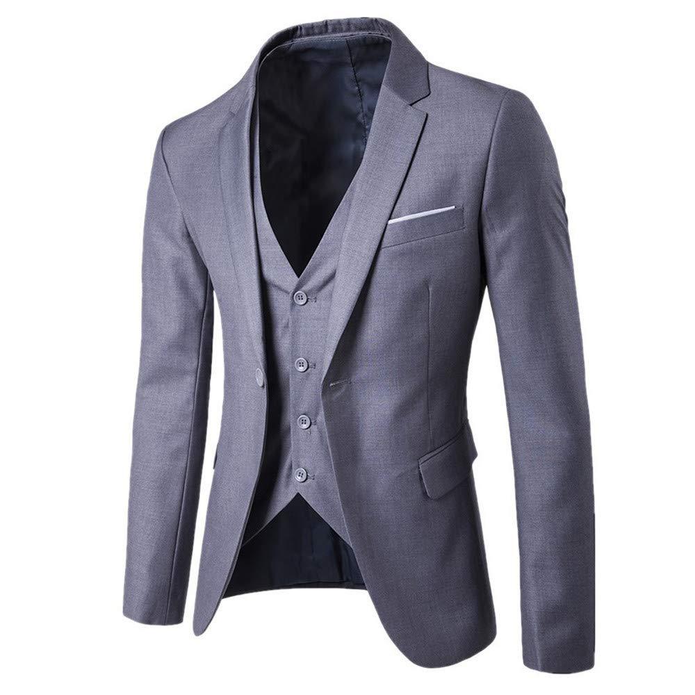Big Promotion Daoroka Mens 3 Piece Slim Suit Jacket Coat Autumn